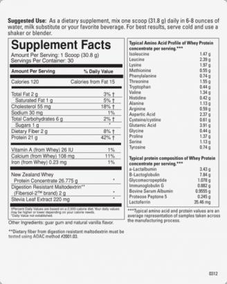 Q5 Combat - Amass Whey Premium Protein - Vanilla