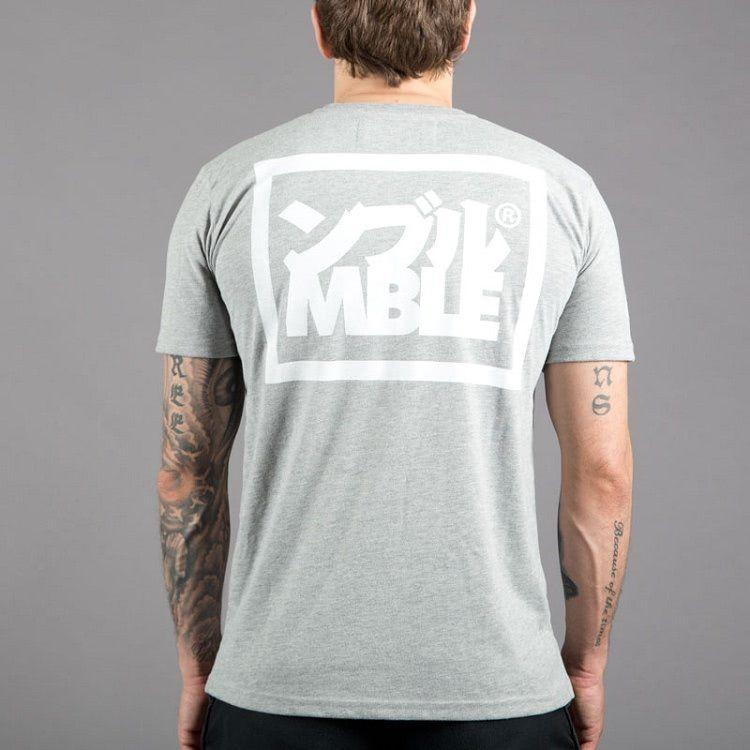 """Scramble """"Split Logo""""  T-Shirt - Grey"""