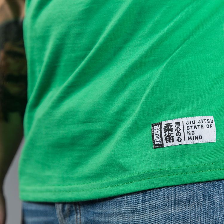 """Scramble """"Split Logo"""" Slim Fit T-Shirt - Green"""