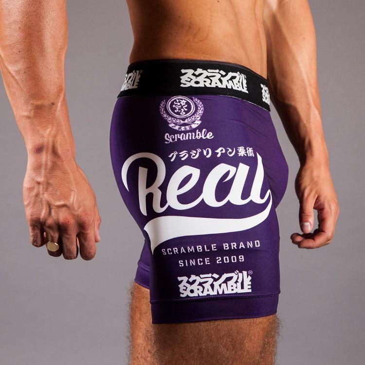 "Scramble 'Real"" Vale Tudo Shorts - Purple"