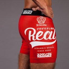 "Scramble 'Real"" Vale Tudo Shorts - Red"
