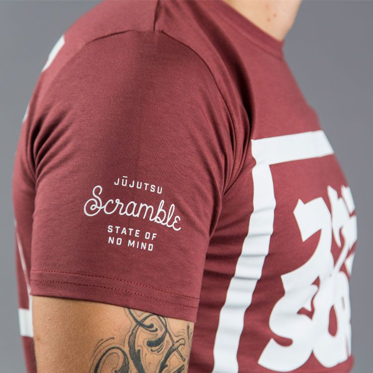 "Scramble ""Split Logo"" Slim Fit T-Shirt - Red"