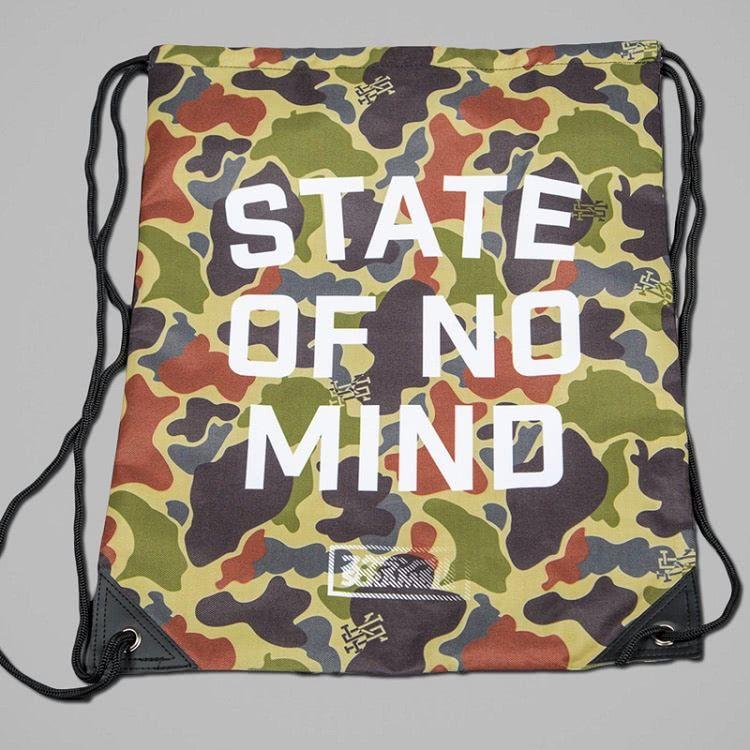 """Scramble """"No Mind"""" Camo Drawstring Bag"""