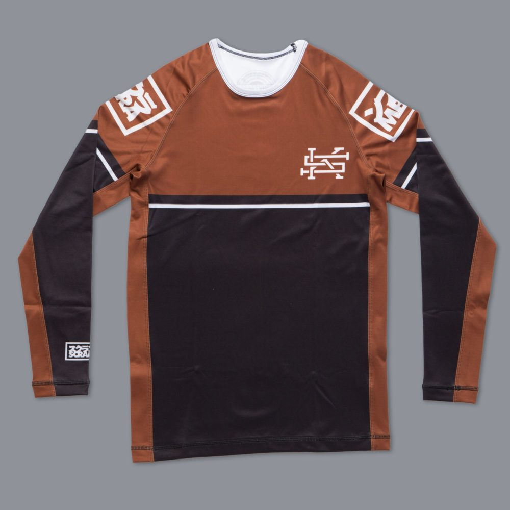 Scramble Ranked Rashguard (V2) - Brown
