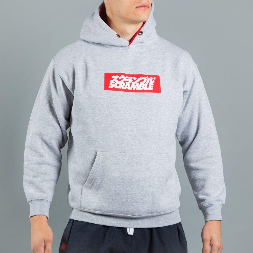 Scramble Box Logo Hoodie - Grey